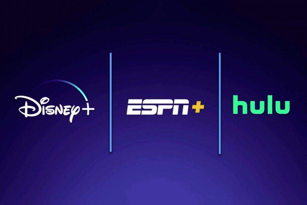 Logotipos Disney+, ESPN+ e Hulu