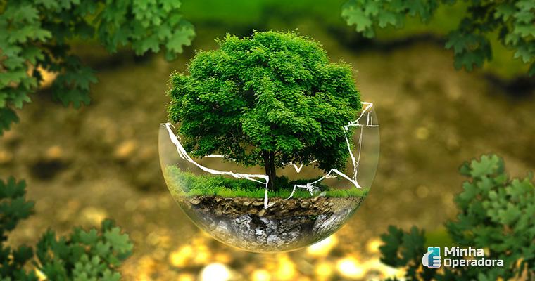 Ilustração meio ambiente