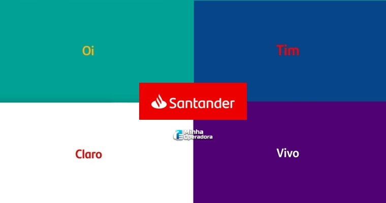 comercial do Santander cita operadoras de telefonia