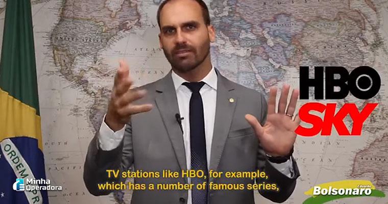 Eduardo Bolsonaro em vídeo