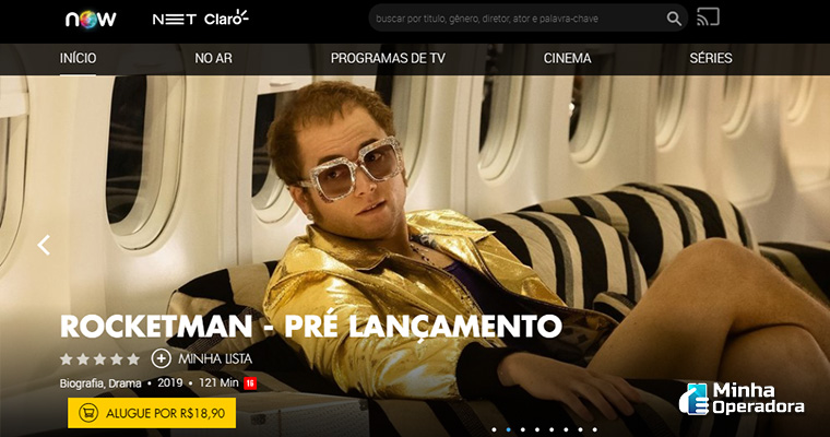 Homepage do NOW