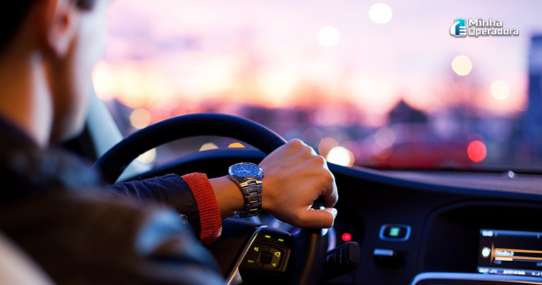 Ilustração motorista particular