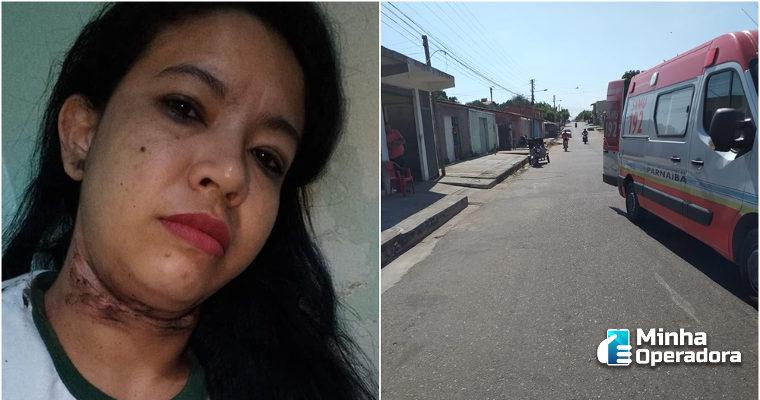 Mulher sofre acidente com fio de rede telefônica em Parnaíba