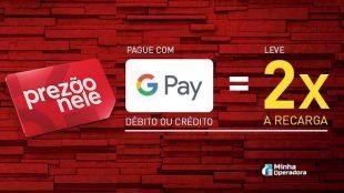 Claro recarga em dobro via Google Pay