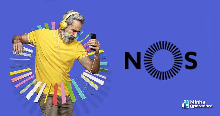 Banner da operadora NOS