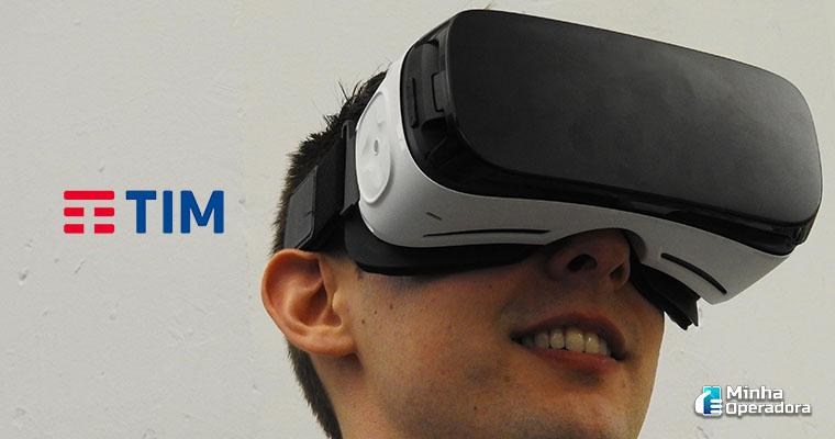 Ilustração. Homem utilizando realidade virtual