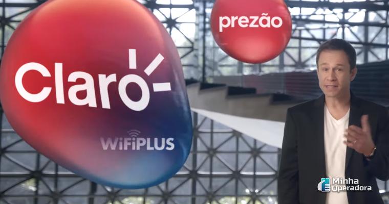Imagens da Claro em comercial de TV