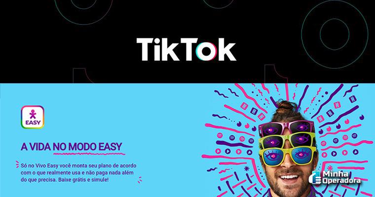 Divulgações TikTok e Vivo