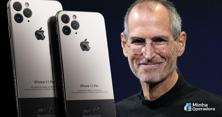 iPhone de luxo em homenagem a Steve Jobs