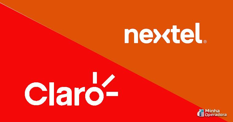 Logotipo da Claro e Nextel