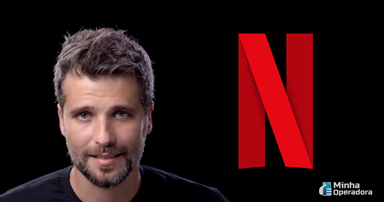 Ilustração Netflix e Bruno Gagliasso
