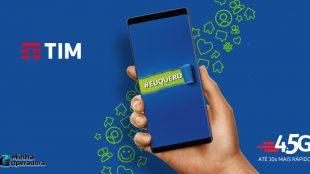TIM oferta plano com 20 GB por R$ 85,99