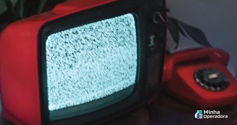 Ilustração TV desligada
