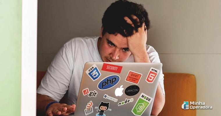 Usuário frustrado