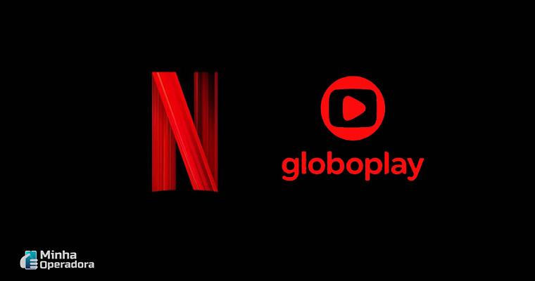 Logotipo Globoplay e Netflix