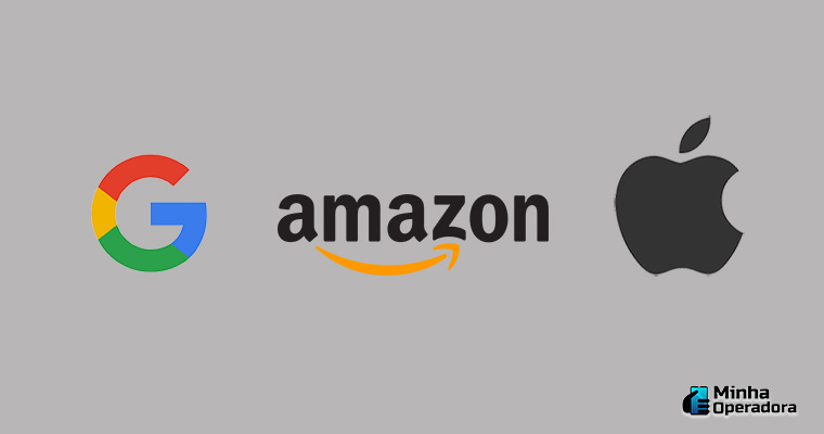 Logotipo do Google, Amazon e Apple