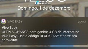 Vivo Easy dá 4GB de bônus de internet