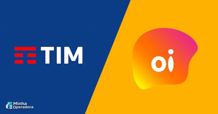 Logotipos da Oi e TIM