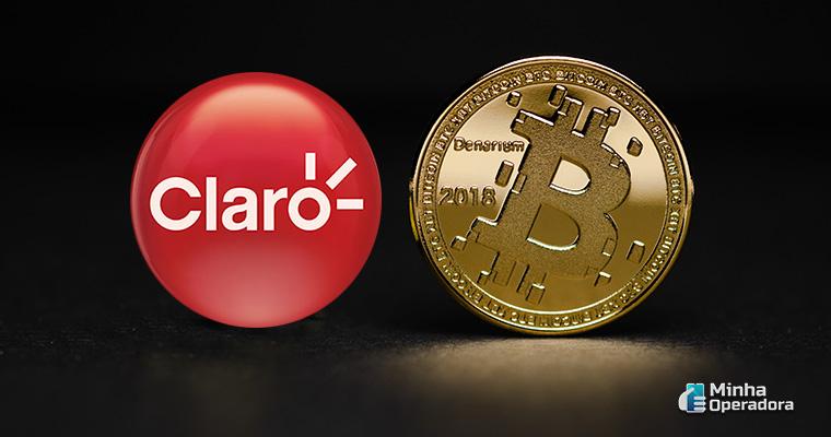 Ilustração Claro e Bitcoin