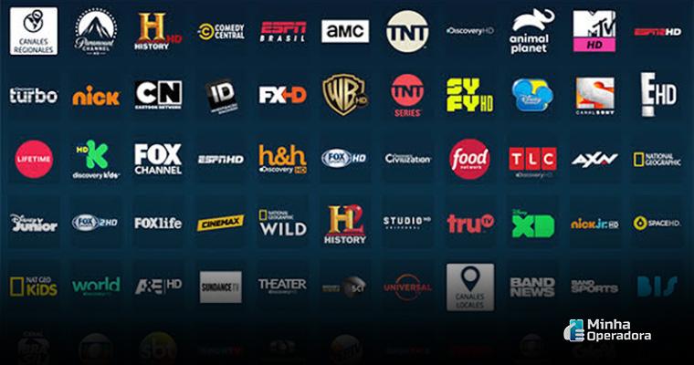 Canais da TV por assinatura