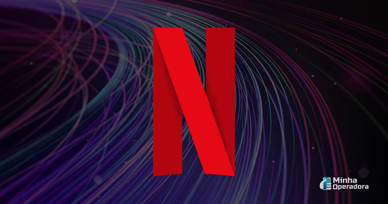 Logotipo da Netflix. Imagem de fundo: Pixabay