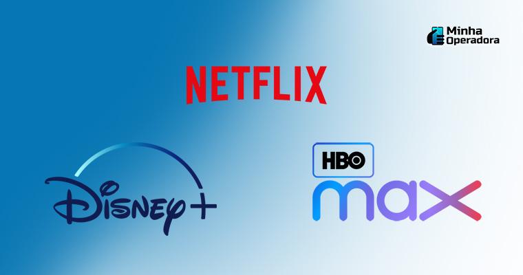 Divulgação HBO Max, Netflix e Disney+