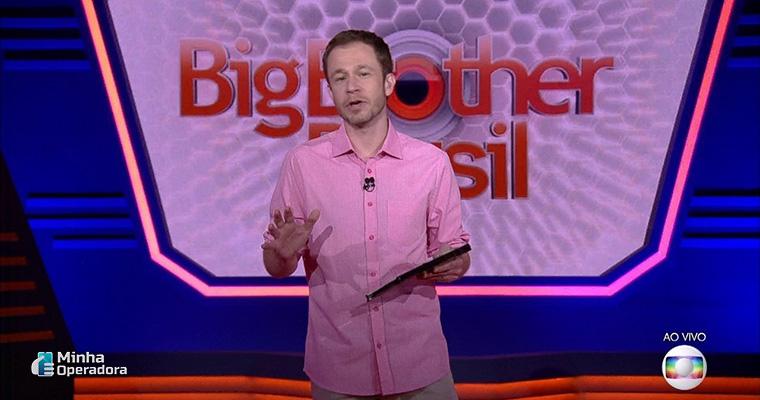 Apresentador Tiago Leifert no Big Brother Brasil