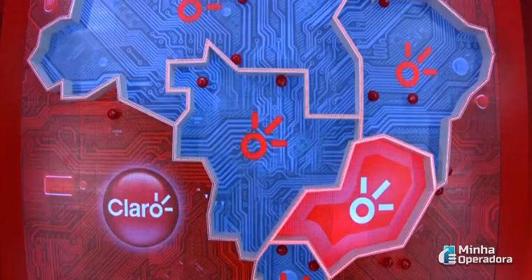 Mapa exibido na prova. Imagem: Reprodução TV Globo