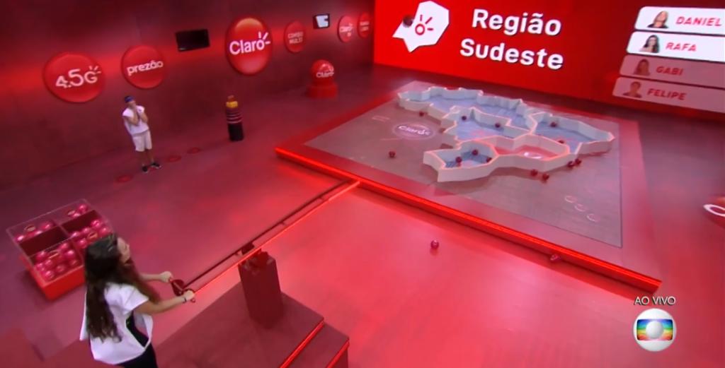 Execução da prova. Imagem: Reprodução TV Globo