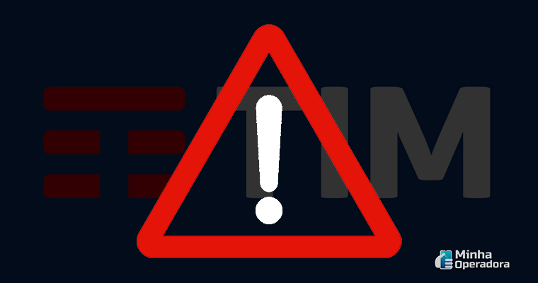 Ilustração com logo da TIM