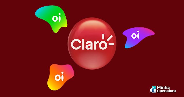 Ilustração logotipos Claro e Oi