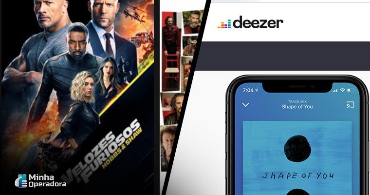 Divulgações Telecine Play e Deezer