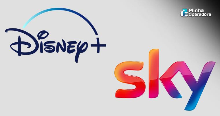 Logotipo Sky e Disney+