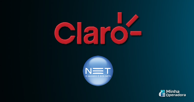 Logotipo Claro e NET
