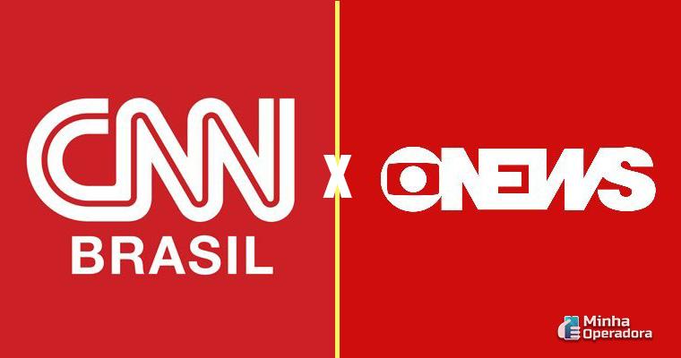 Logotipo CNN Brasil e Globo News