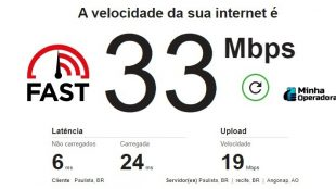 velocidade da internet fast netflix