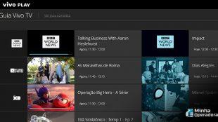 Vivo Play ganha transmissão ao vivo de mais canais