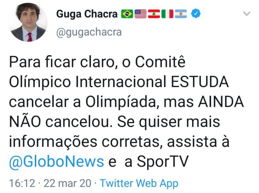 Tuíte de Guga Chacra
