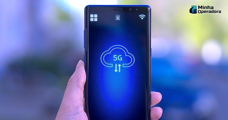 Smartphone com conexão 5G