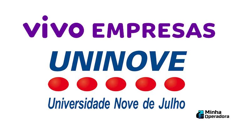 Logotipo Vivo e UNINOVE