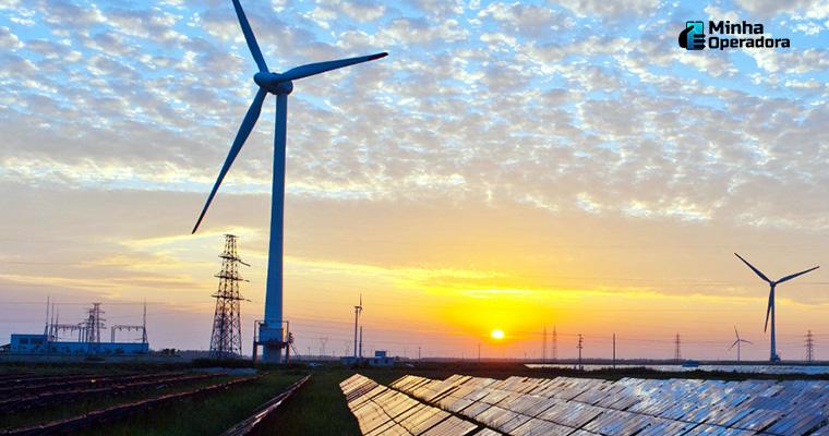 Ilustração - Estação de energia renovável