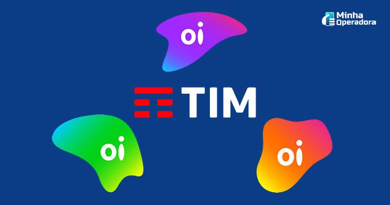 Logotipos TIM e Oi