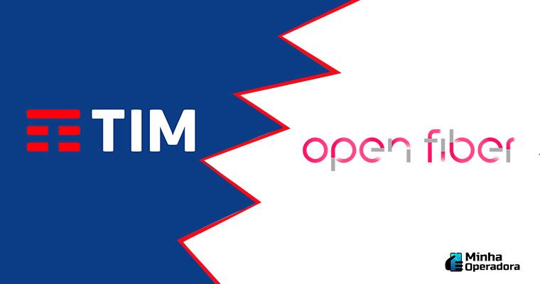 Logotipo TIM e Open Fiber