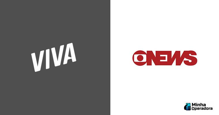 Logotipo Viva e GloboNews