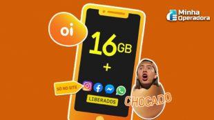 Oi lança plano móvel com 16GB por R$ 49,99