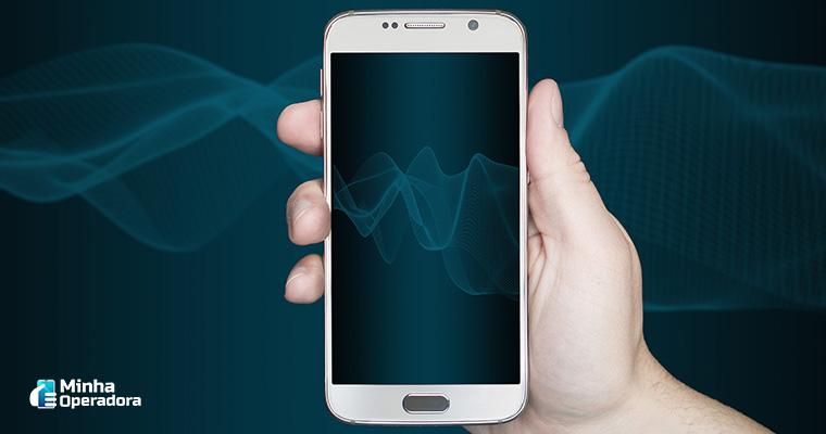 Smartphone com comunicação de internet