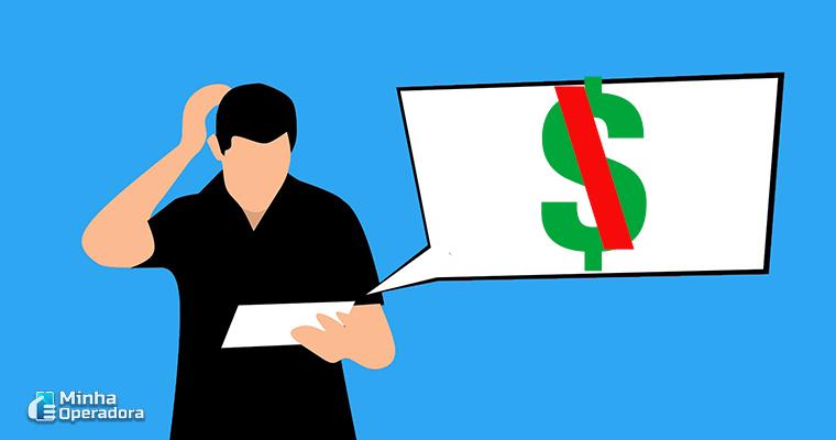 Ilustração - Homem com conta a pagar