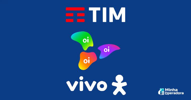 Ilustração TIM, Oi e Vivo