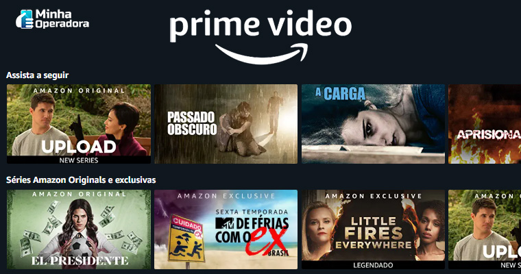 Catálogo do Amazon Prime Vídeo