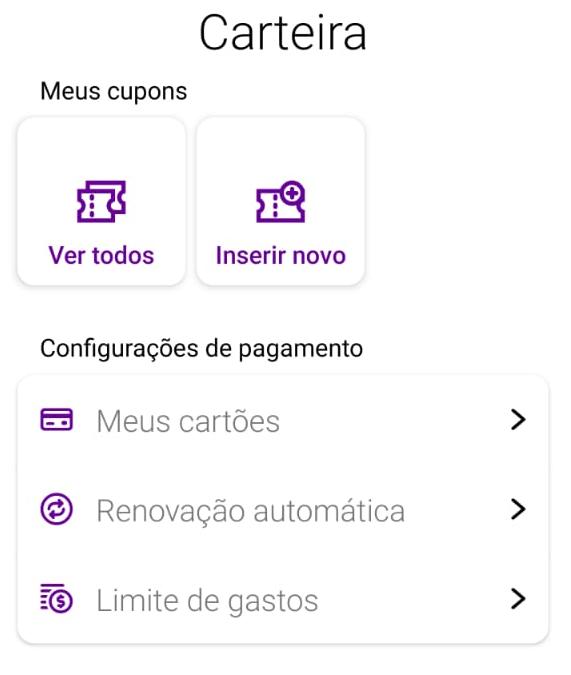 Atualização do menu do Vivo Easy.